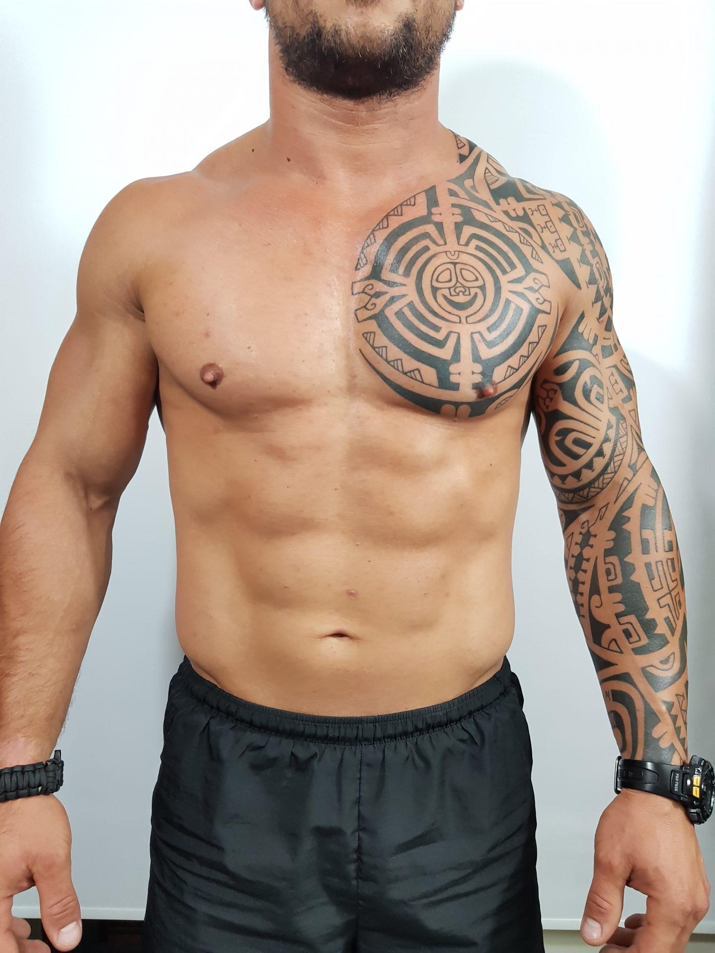 Mix Polinezyjski Rękaw Klatka Plecy Avalan Tattoo